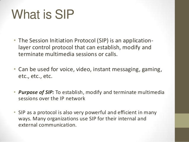 session initiation protocol Sip is the session initiation protocol in ip and traditional telephony, network engineers have always made a clear distinction between two different.