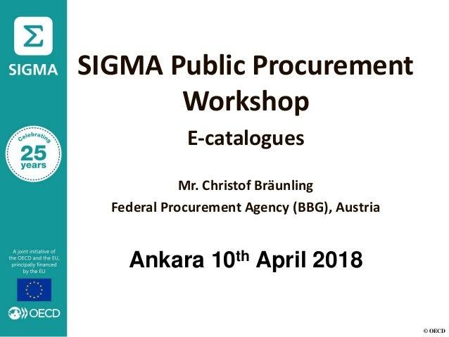 Presentation, SIGMA Public Procurement Workshop, e-Catalogues, Turkey…