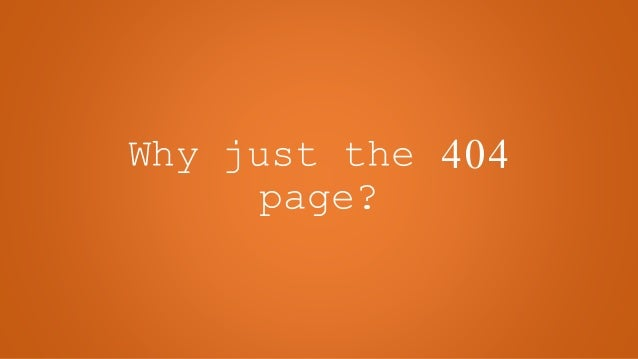 Site Branding - Beyond the 404 Page