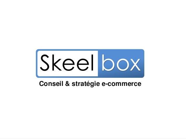 Conseil & Stratégie E-commerce Conseil & stratégie e-commerce Skeel box