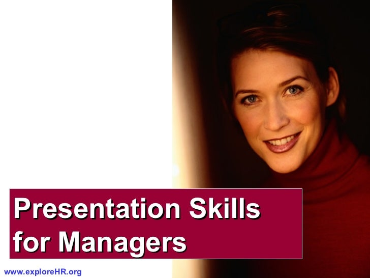 Presentation Skills  for Managers