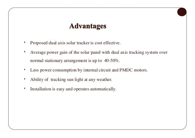 Solar tracking system a project report submitted ppt video.
