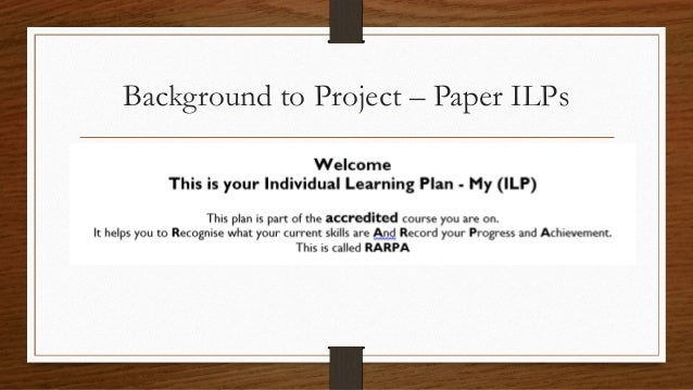 individual learning project essay Individual learning project instructions the individual learning project is an opportunity for you to evaluate yourself and your role within your organization.