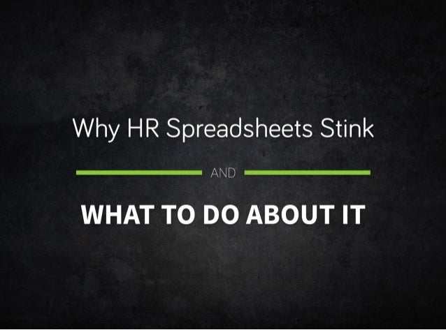 Spreadsheets Stink! But that's not your fault.