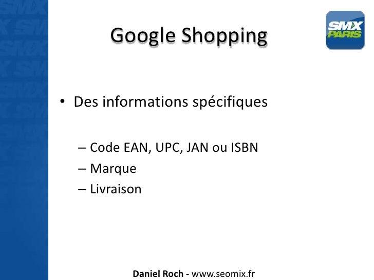 Google Shopping et Google Vidéo - SMX Paris 2012 Slide 2