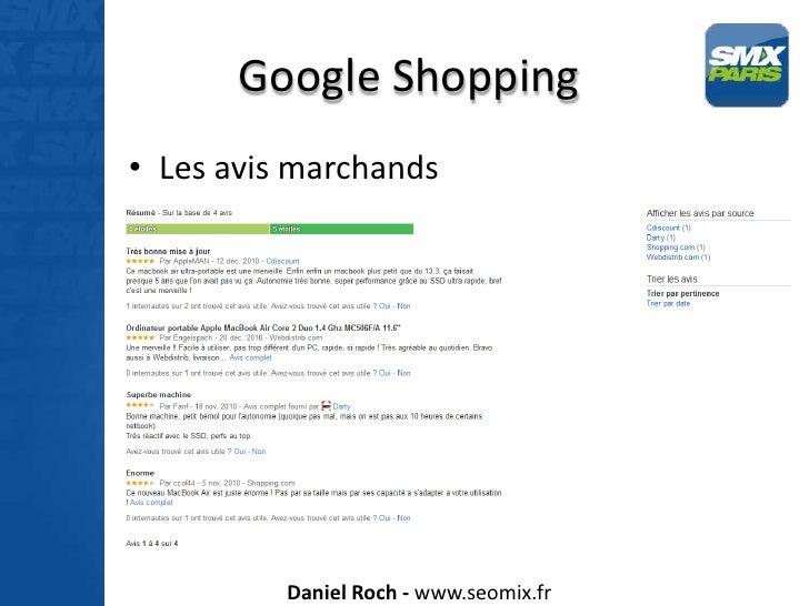 Google Shopping et Google Vidéo - SMX Paris 2012 Slide 3