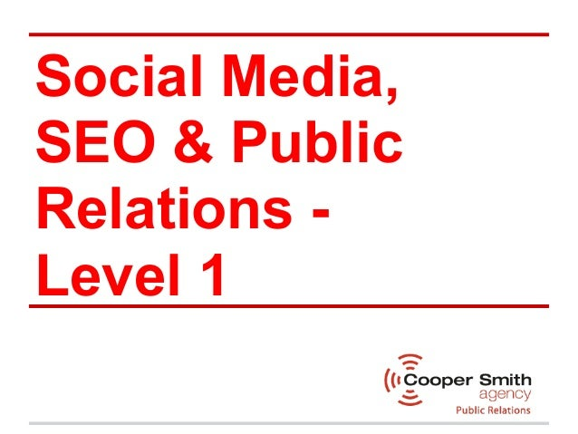 Community Training Institute Presentation - Social Media Level 1