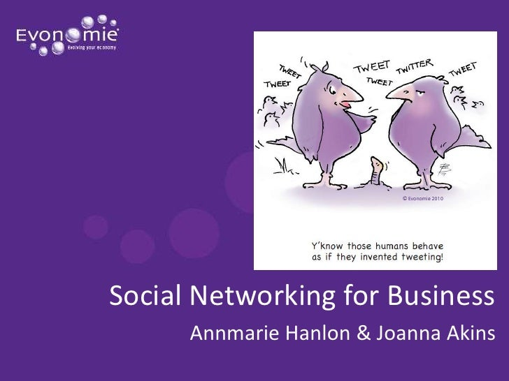 Social Networking for Business<br />Annmarie Hanlon & Joanna Akins<br />