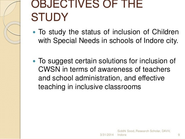case study for cwsn