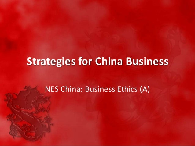 nes china case study Sents a special case among the nations studied of a  nes) china's role in  importing paper exported in the region is substantial, though not as dominant as  for.