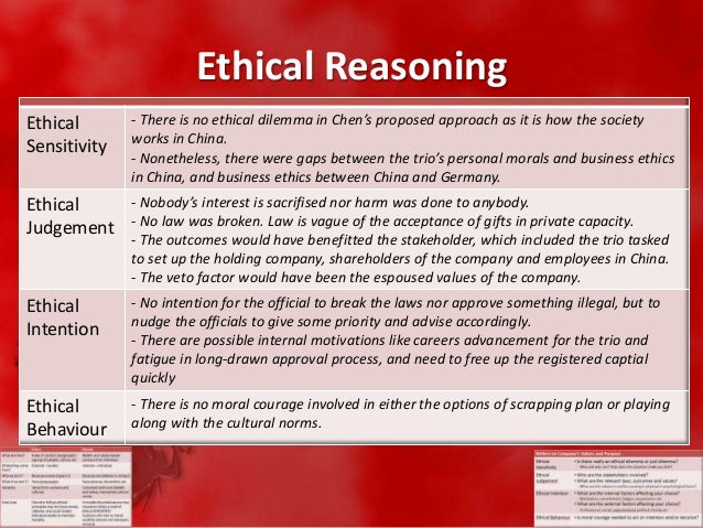 Ethical Reasoning Essential to Education