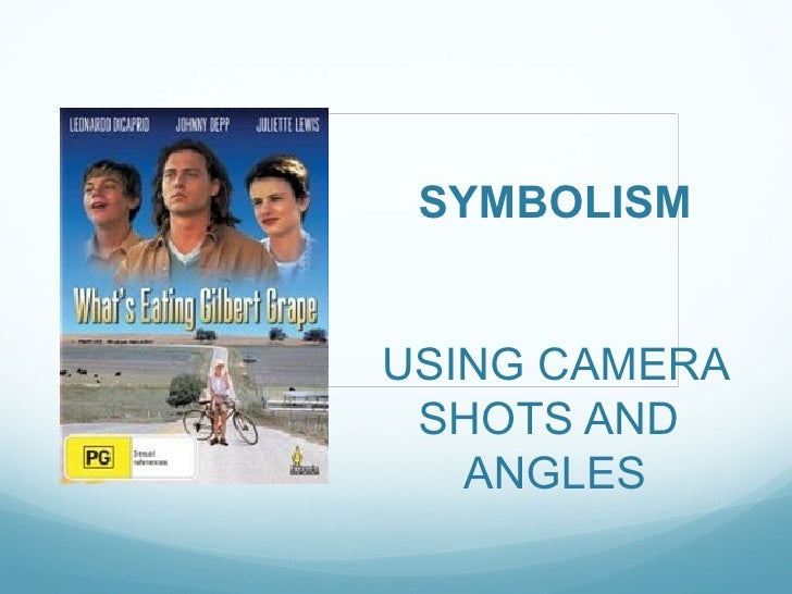 SYMBOLISMUSING CAMERA SHOTS AND   ANGLES