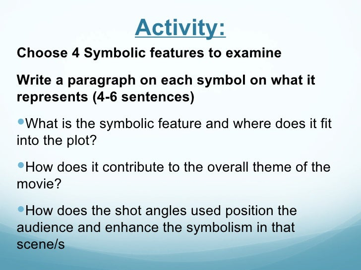 Symbolism In Films Powerpoint