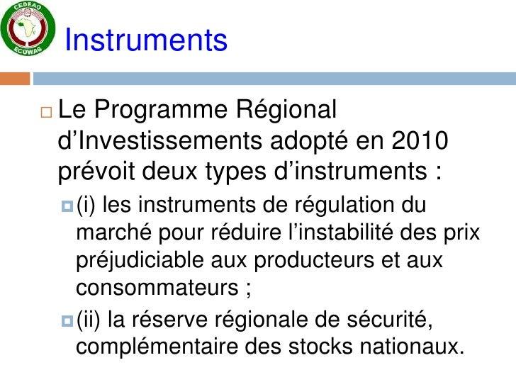 Presentation task-force sur stock régional / CEDEAO Slide 3