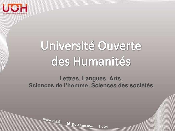 Lettres, Langues, Arts,Sciences de l'homme, Sciences des sociétés