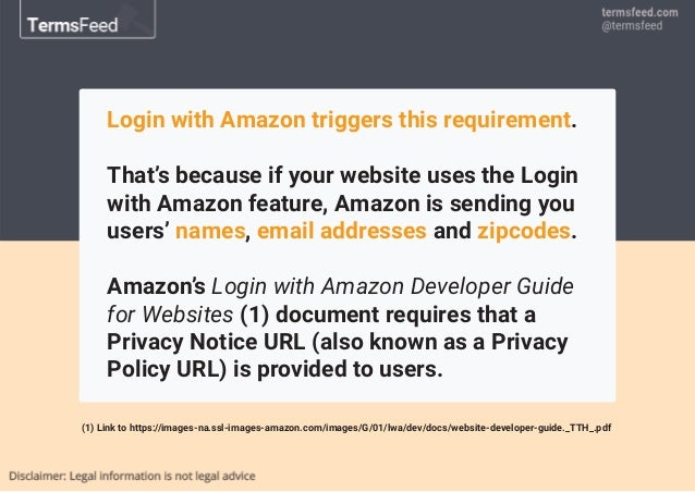 Privacy Policy for Login with Amazon