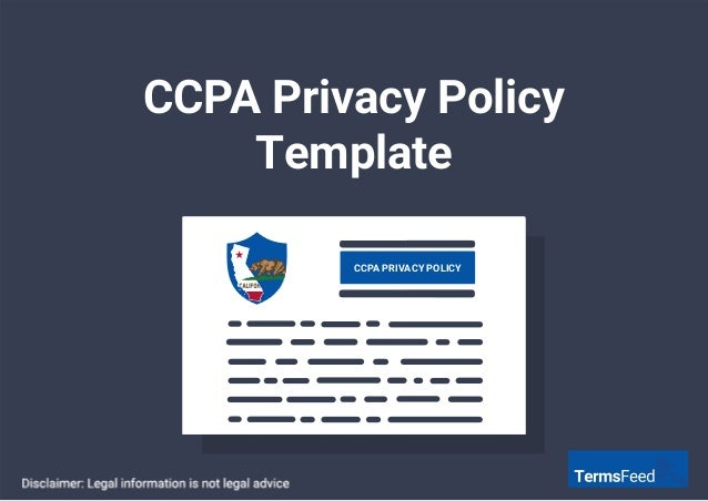 CCPA Privacy Policy Template CCPA PRIVACY POLICY