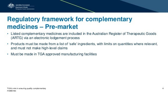 Tga S Role In Ensuring Quality Complementary Medicines