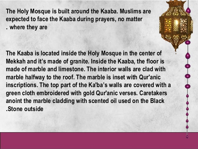 Presentation The Holy Mosque