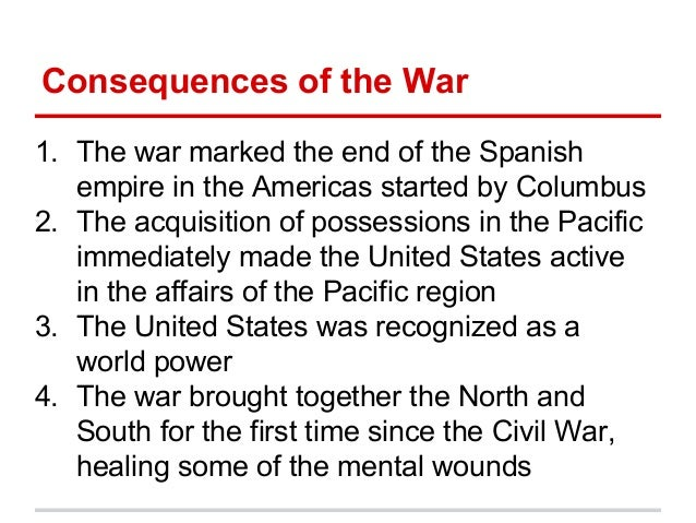 consequences of the spanish american war