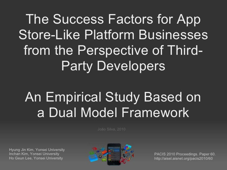 The Success Factors for App     Store-Like Platform Businesses      from the Perspective of Third-            Party Develo...