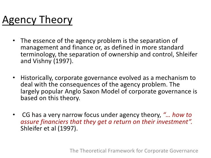 definition of agency theory