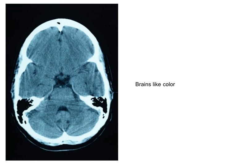 Brains like color