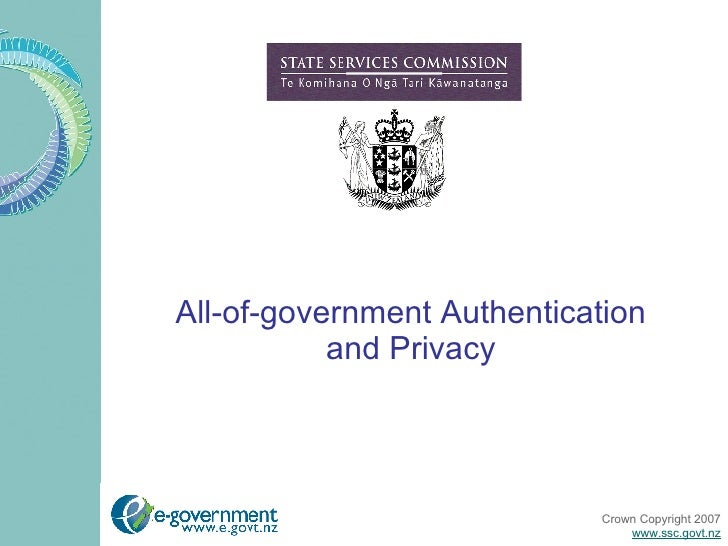 All-of-government Authentication and Privacy