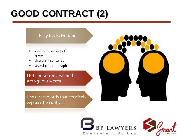 law understanding contracts Contracting basics 410 th  • enforceable by law • oral or written • must contain the following five elements: (1) offer  the cor needs to understand the basics of the types of.