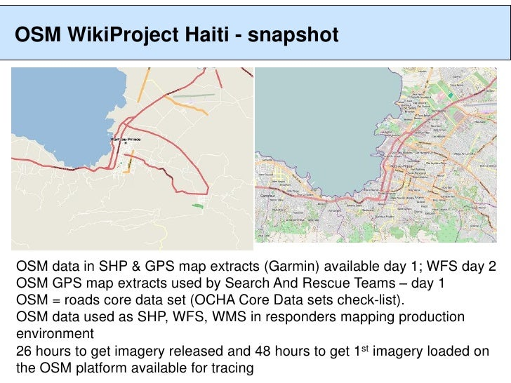 OpenStreetMap work in humanitarian response to 12-Jan 2010 Haiti Eart…