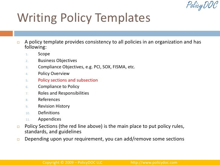 Writing Policies And Procedures Template Effective Policy Management