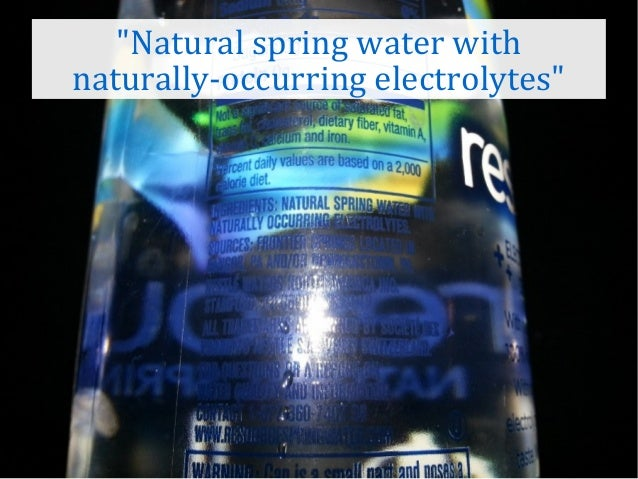 What Is Better Purified Water Or Natural Spring Water