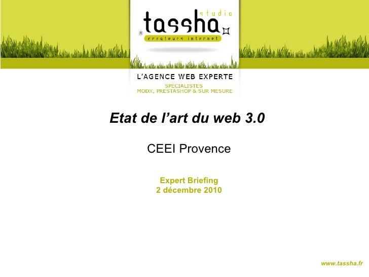Etat de l'art du web 3.0     CEEI Provence        Expert Briefing       2 décembre 2010                           www.tass...