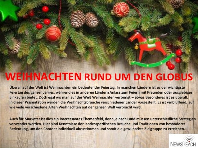 Um Weihnachten.Weihnachten Rund Um Den Globus