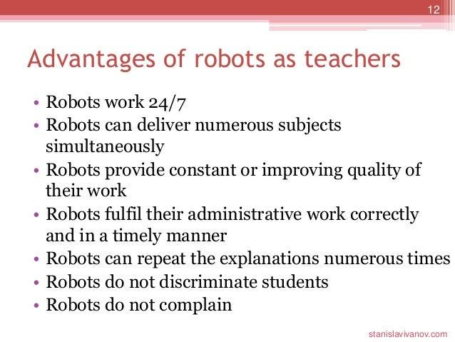 Robot teachers uses, advantages and disadvantages