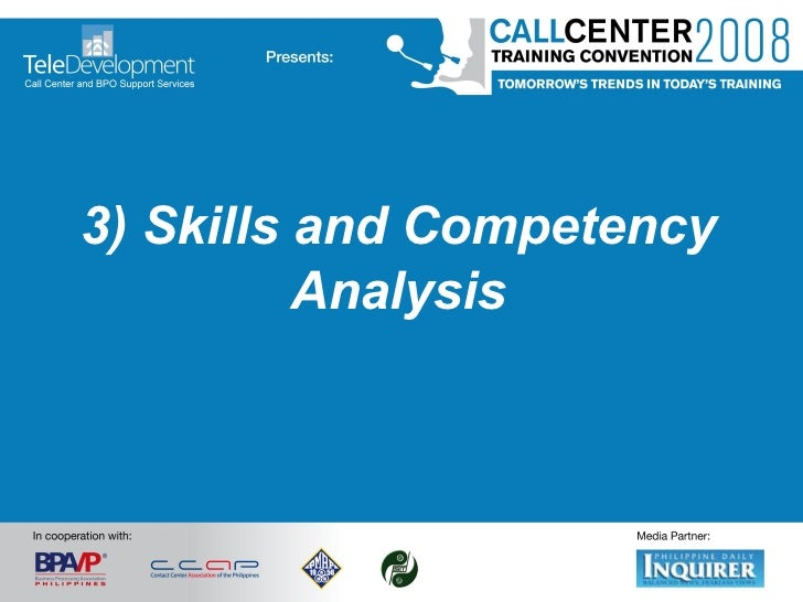 3) Skills and Competency Analysis