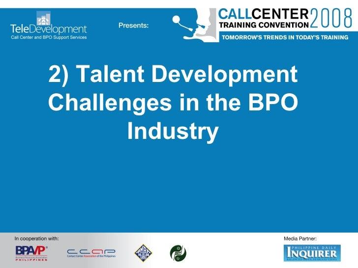 2) Talent Development Challenges in the BPO Industry