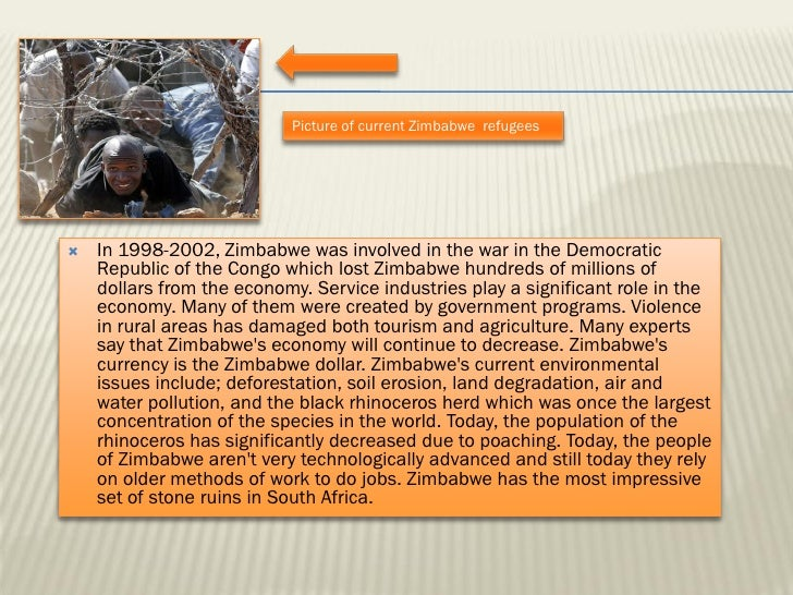 """ppt on zimbabwe Human rights watch 2 march 2002, vol 14, no 1 (a) i summary the """"fast track"""" land resettlement program implemented by the government of zimbabwe over the."""