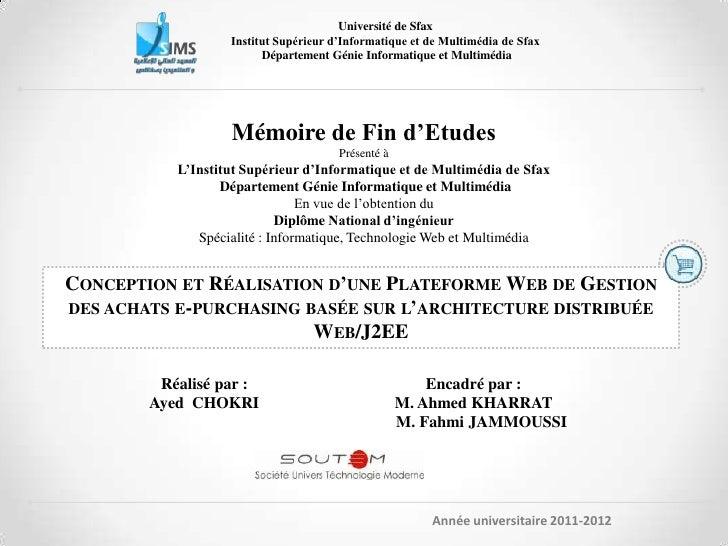 Université de Sfax                   Institut Supérieur d'Informatique et de Multimédia de Sfax                         Dé...