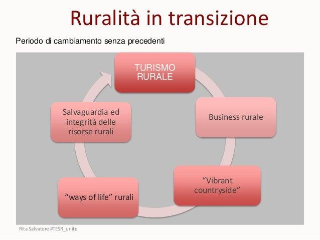 """TURISMO RURALE """"Vibrant countryside"""" """"ways of life"""" rurali Salvaguardia ed integrità delle risorse rurali Business rurale ..."""