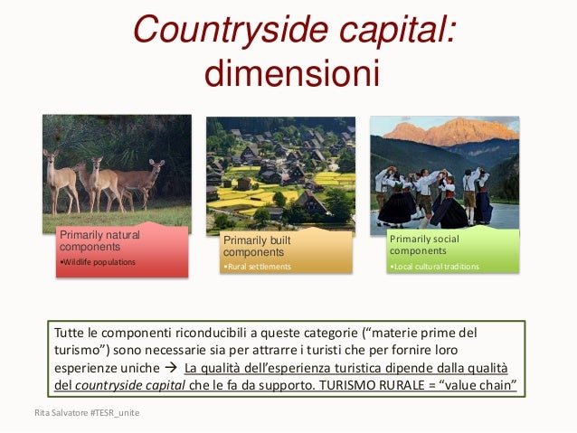 Countryside capital: dimensioni Primarily natural components •Wildlife populations Primarily built components •Rural settl...