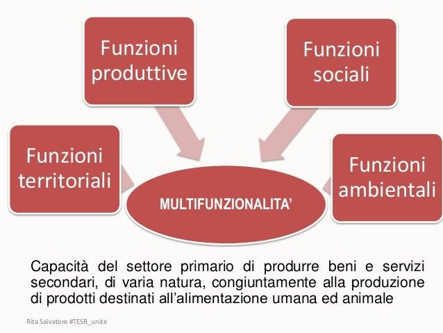 Rita Salvatore #TESR_unite MULTIFUNZIONALITA' Funzioni territoriali Funzioni produttive Funzioni sociali Funzioni ambienta...