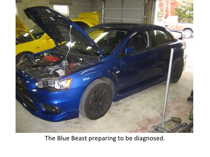 The Blue Beast preparing to be diagnosed.
