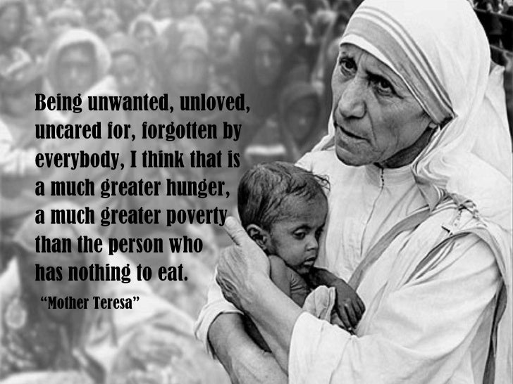 compare mother teresa with the work that jesus did Question: did mother teresa go to heaven answer: mother teresa, or teresa of calcutta (1910—1997), was born agnes gonxha bojaxhiu in macedonia mother teresa was a catholic nun and missionary and certainly stands out among the world's most famous and beloved religious humanitarians of the .