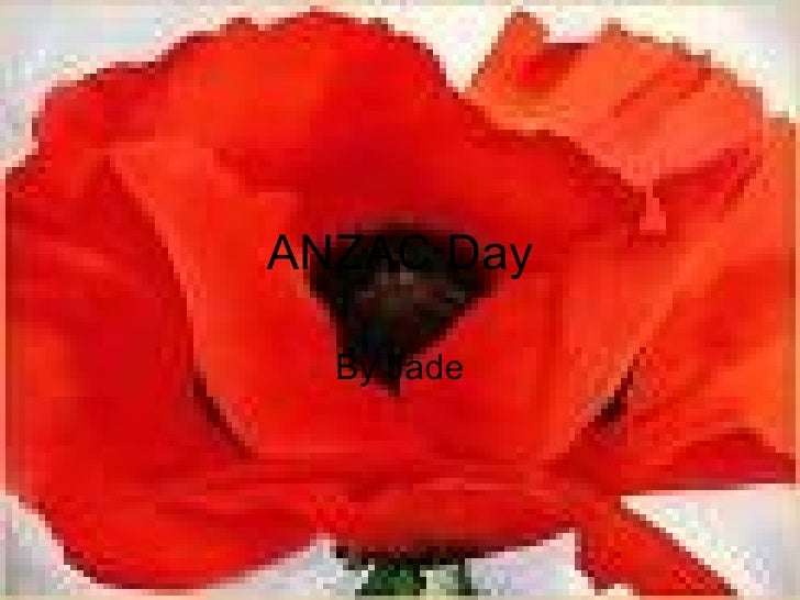 ANZAC Day By Jade