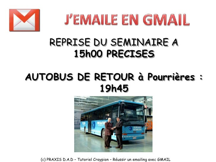 J'emaile avec GMAIL