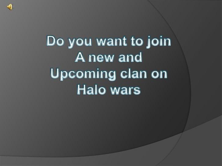 halo wars clan