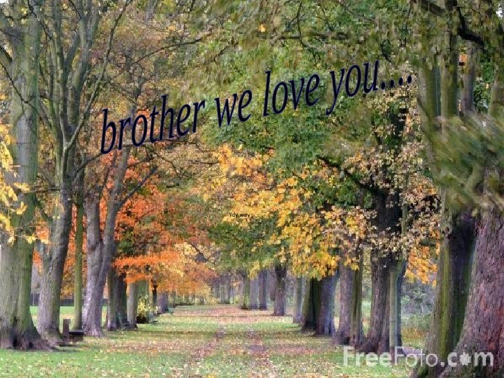 brother we love you....