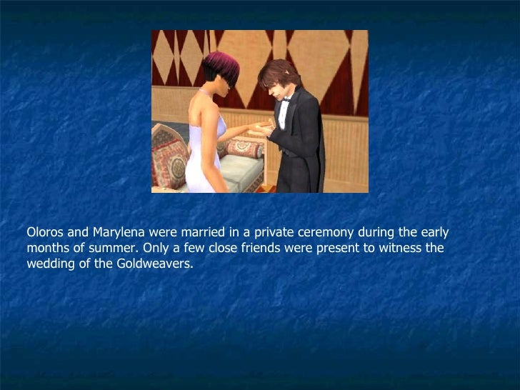 Oloros and Marylena were married in a private ceremony during the early months of summer. Only a few close friends were pr...