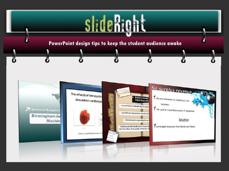 PowerPoint design tips to keep the student audience awake